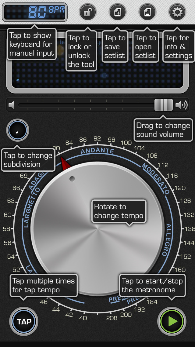 Metronome 9th: Pro Instrument for Music Practice screenshot 2