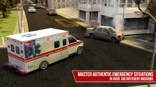 Emergency Simulator PRO - Driving and parking police car, ambulance and fire truck screenshot 2