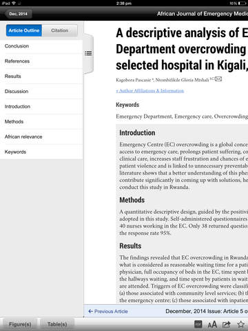 African Journal of Emergency Medicine screenshot 9