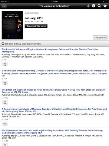 The Journal of Arthroplasty screenshot 9
