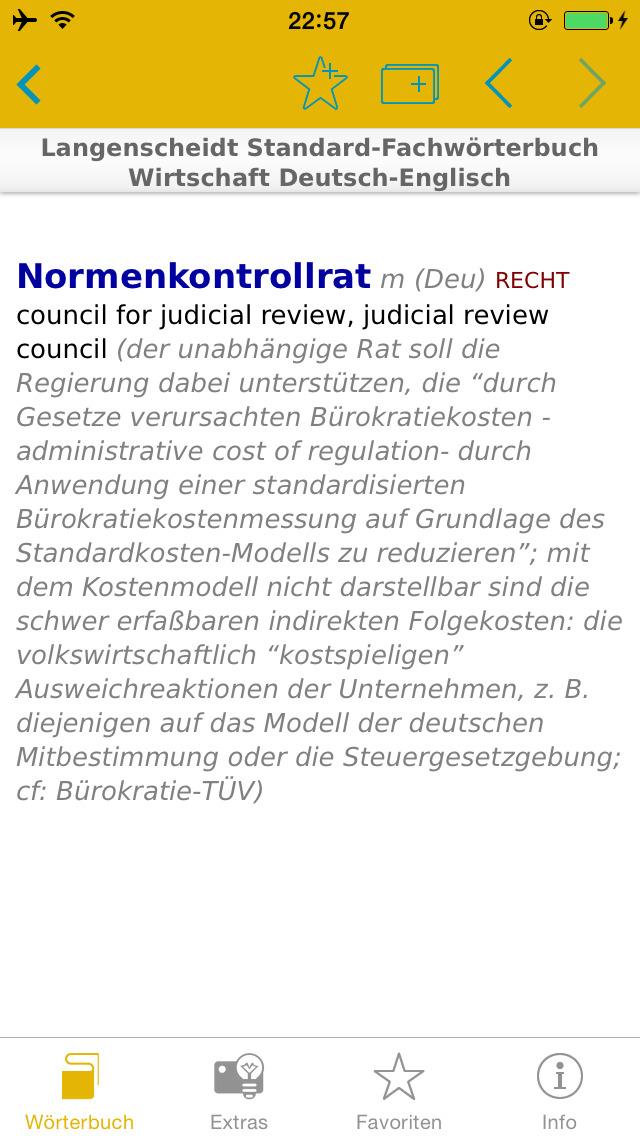 Wirtschaft Englisch<->Deutsch Fachwörterbuch Standard screenshot 2