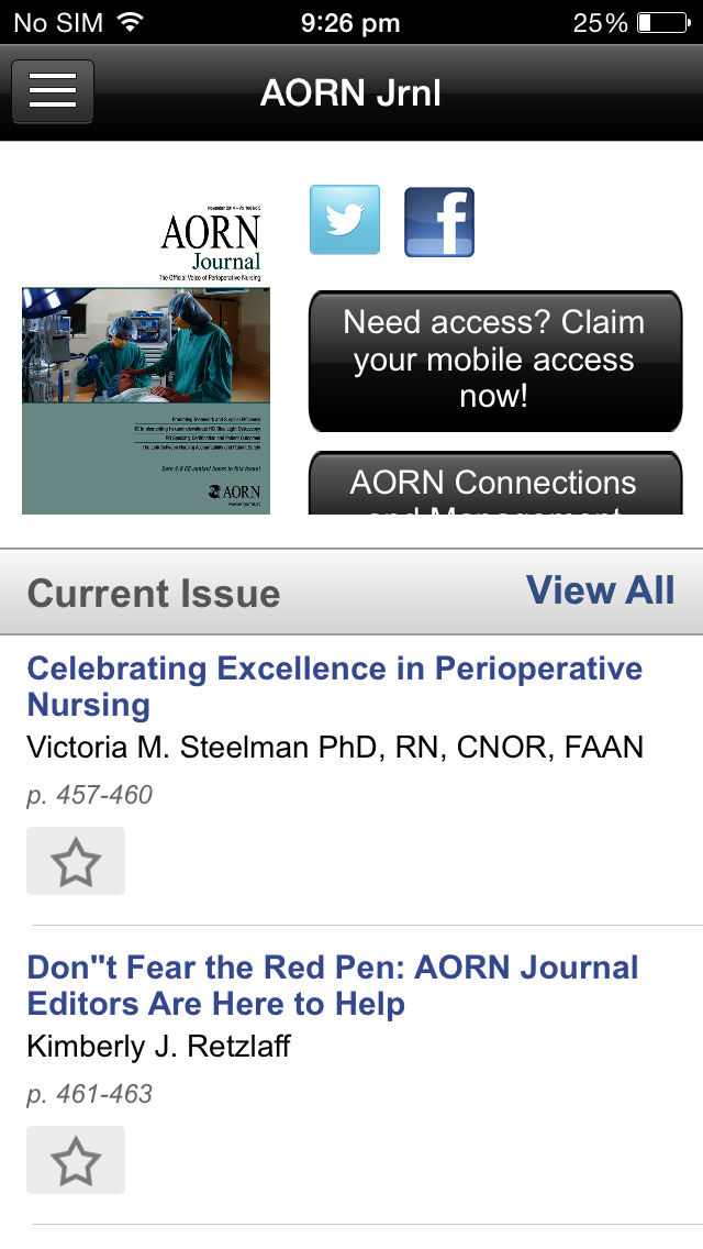 AORN Journal screenshot 3