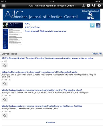 AJIC: American Journal of Infection Control screenshot 8