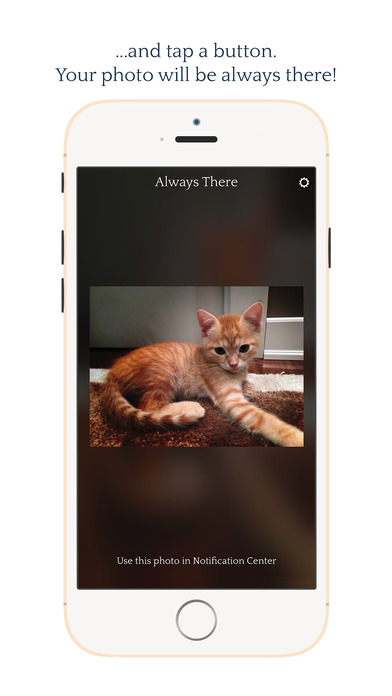 Always There - Your most precious photo in a Notification Center widget screenshot 3
