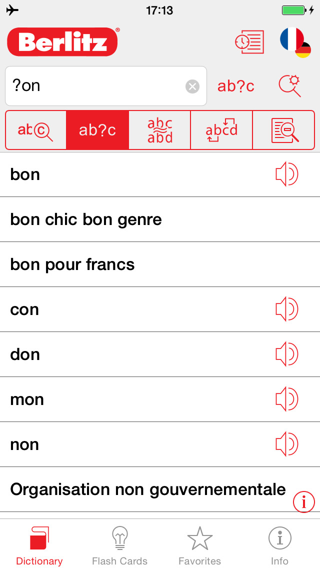 German - French Berlitz Mini Talking Dictionary screenshot 4