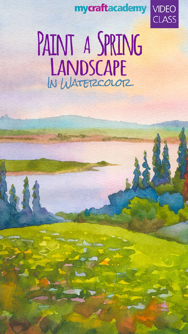 Paint a Spring Landscape in Watercolor screenshot 1