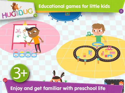 DayCare Explorer - HugDug kindergarten and nursery activity game for little kids. screenshot 1