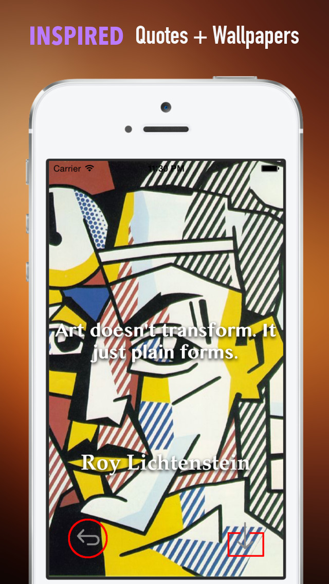 Paintings HD Wallpaper for Roy Lichtenstein and His Inspirational Quotes Backgrounds Creator screenshot 5