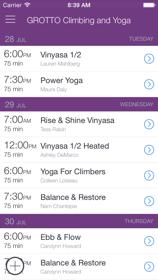 Grotto Climbing & Yoga screenshot 1