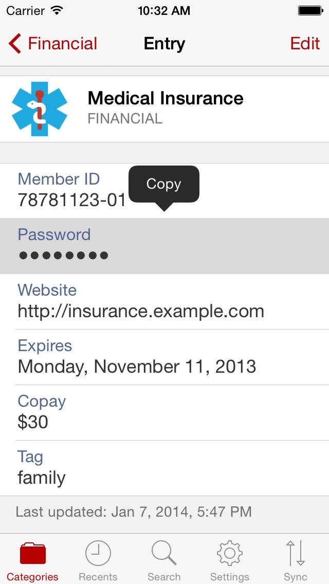 Codebook Password Manager screenshot 3