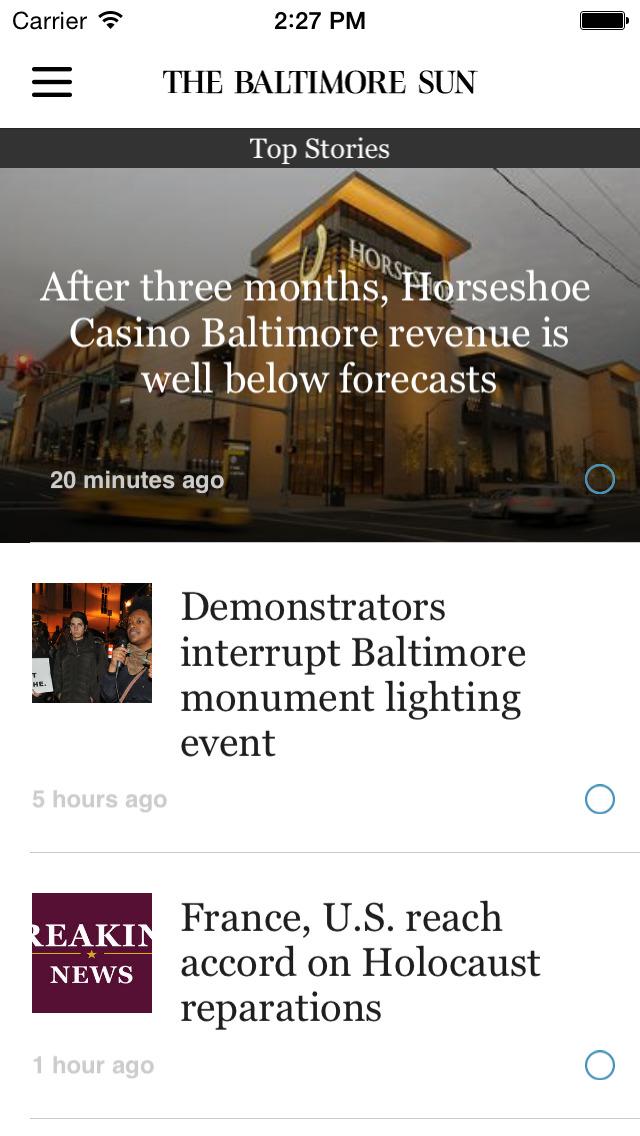 The Baltimore Sun screenshot 1