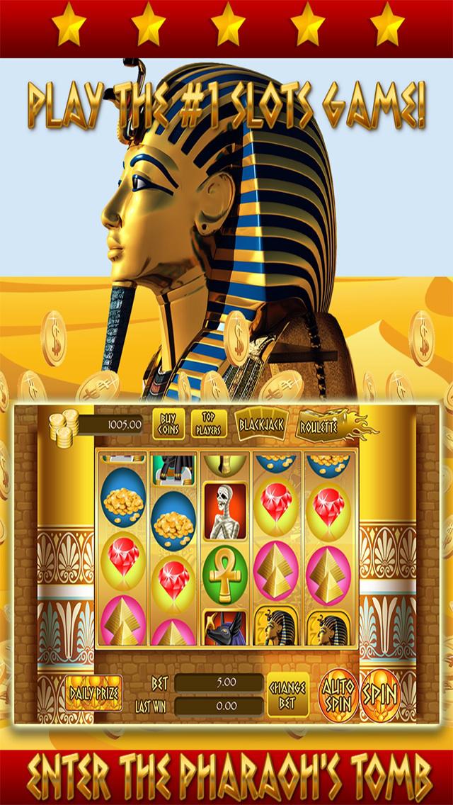 *777* Pharaoh Slots - Free Casino Games screenshot 1