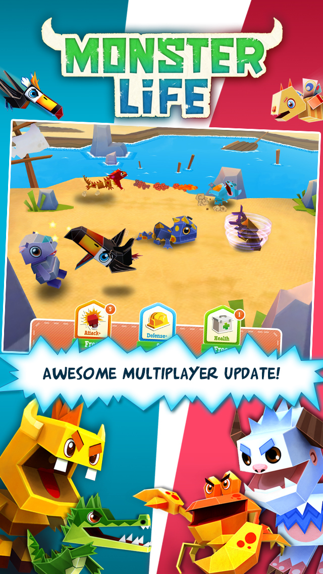 Monster Life - Collect and battle cute mini monsters! screenshot 1