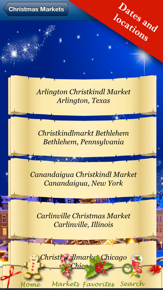 Christmas Markets 2014 Worldwide - Dates all over the World screenshot 4