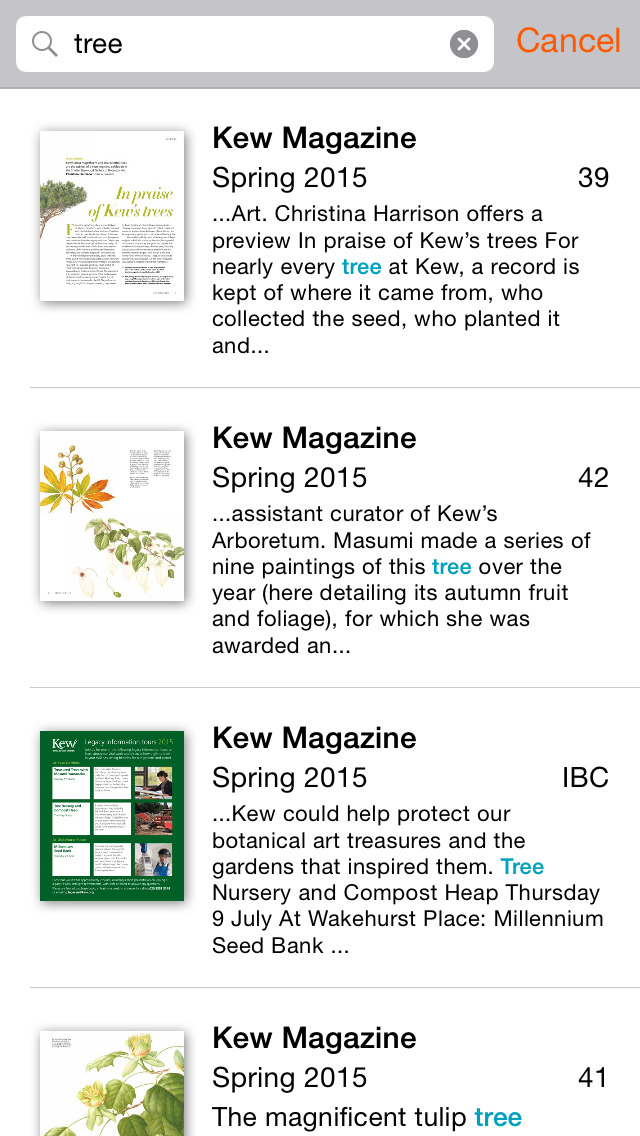 Kew Magazine screenshot 5