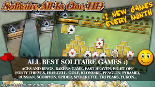 Solitaire All In One HD Pro - The Classic Card Game Full Deluxe Puzzle Pack for iPad & iPhone screenshot 1