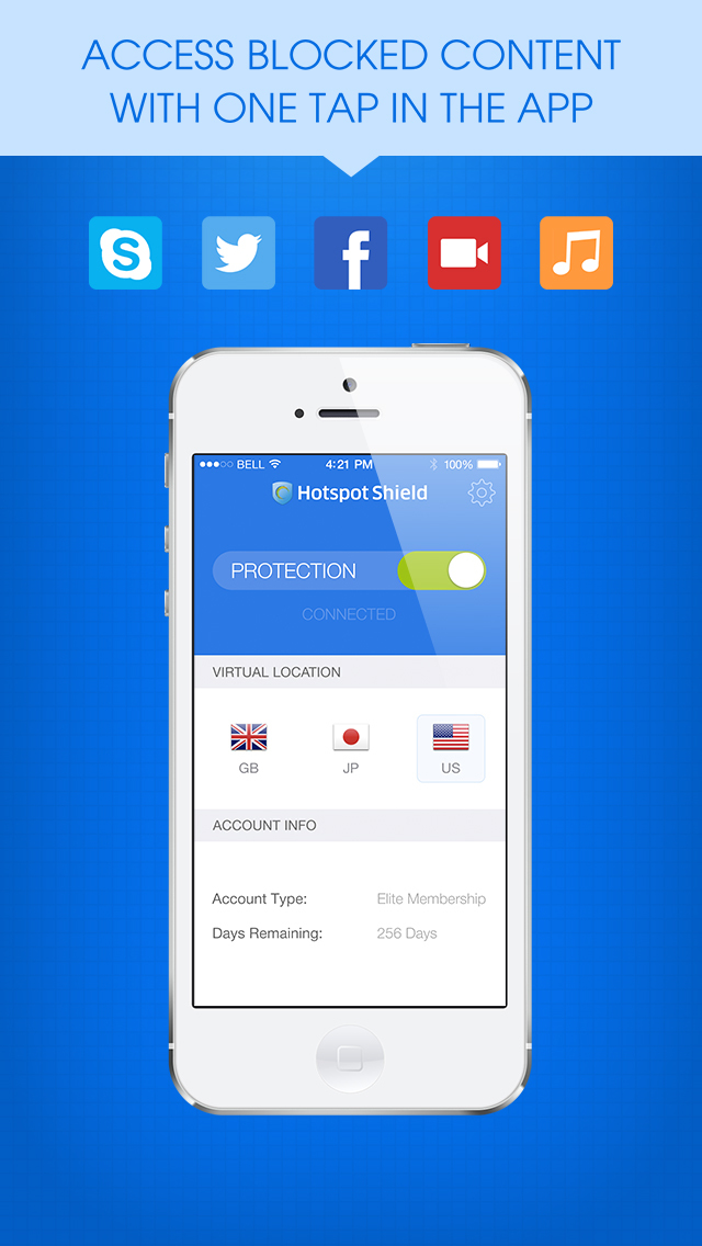 HotspotShield VPN & Wifi Proxy screenshot 3