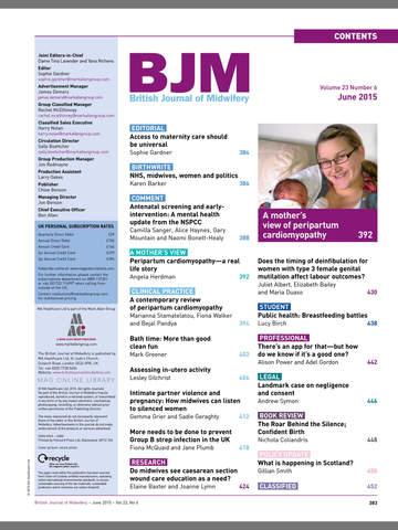 British Journal of Midwifery screenshot 7