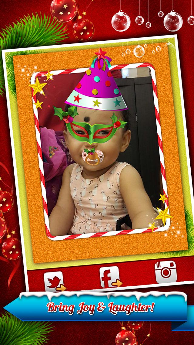 Santa Claus Photo Booth - Festive Merry Christmas Luxury Edition screenshot 3