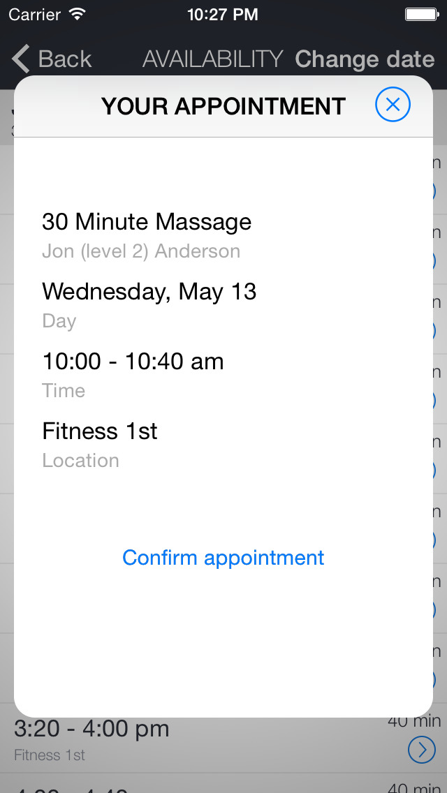 Fitness 1st screenshot 3