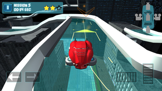 Hover Car Parking Simulator - Flying Hoverboard Car City Racing Game FREE screenshot 2