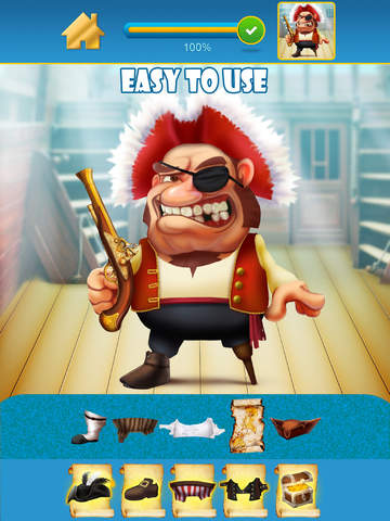 My Pirate Adventure Draw And Copy Game - The Virtual Dress Up Hero Edition - Free App screenshot 9
