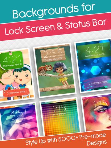 Lock Screen Wallpapers & HD Backgrounds With Ringtones & Sounds screenshot 9