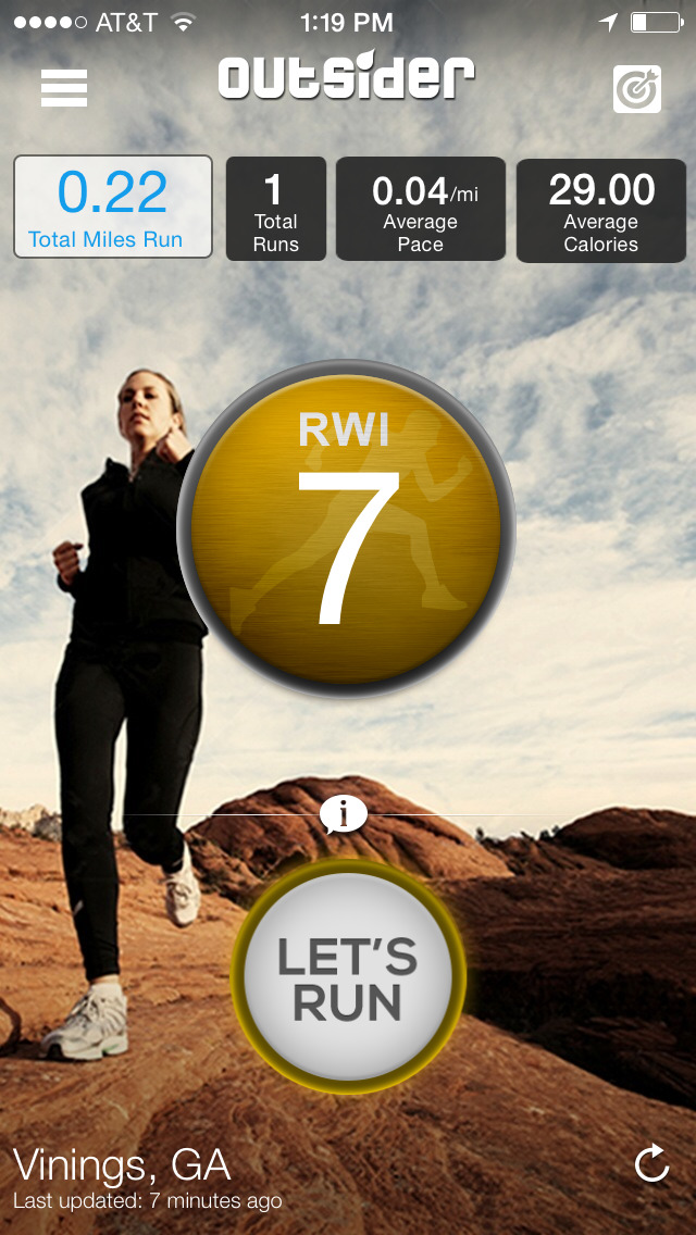 OutSider - running, jogging, walking, and cycling app for exercise and workout tracking screenshot 1
