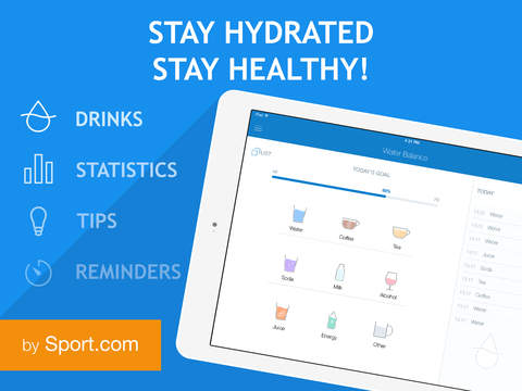 Water Balance: hydration and drinking tracker with goals and reminders screenshot #1