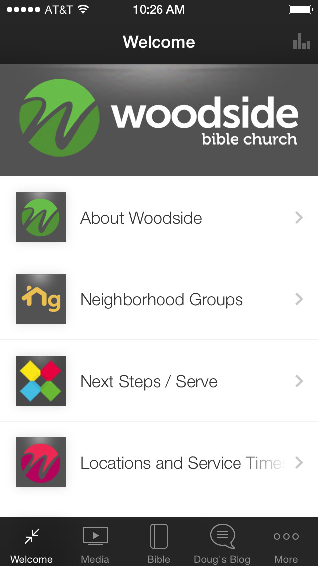 Woodside Bible Church screenshot 1