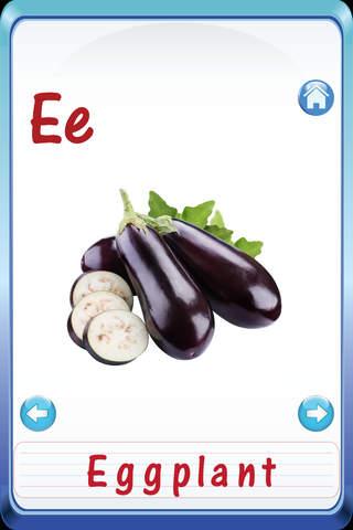 Kids Fruits & Vegetables ABC Alphabets flash cards - náhled