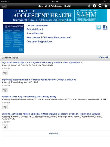Journal of Adolescent Health screenshot 9