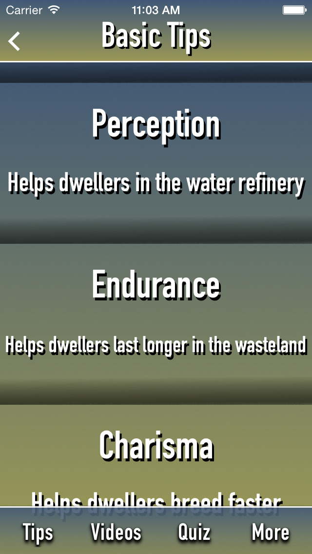 Guide Plus for Fallout Shelter screenshot 1