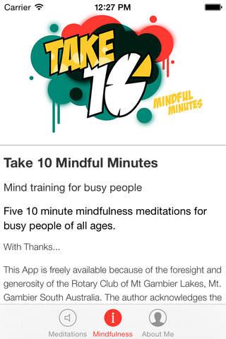 Take 10 Mindful Minutes - náhled