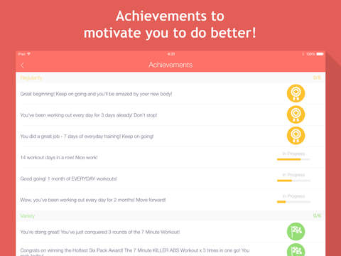 7 minute workouts: bodyweight training & high intensity exercises screenshot #4