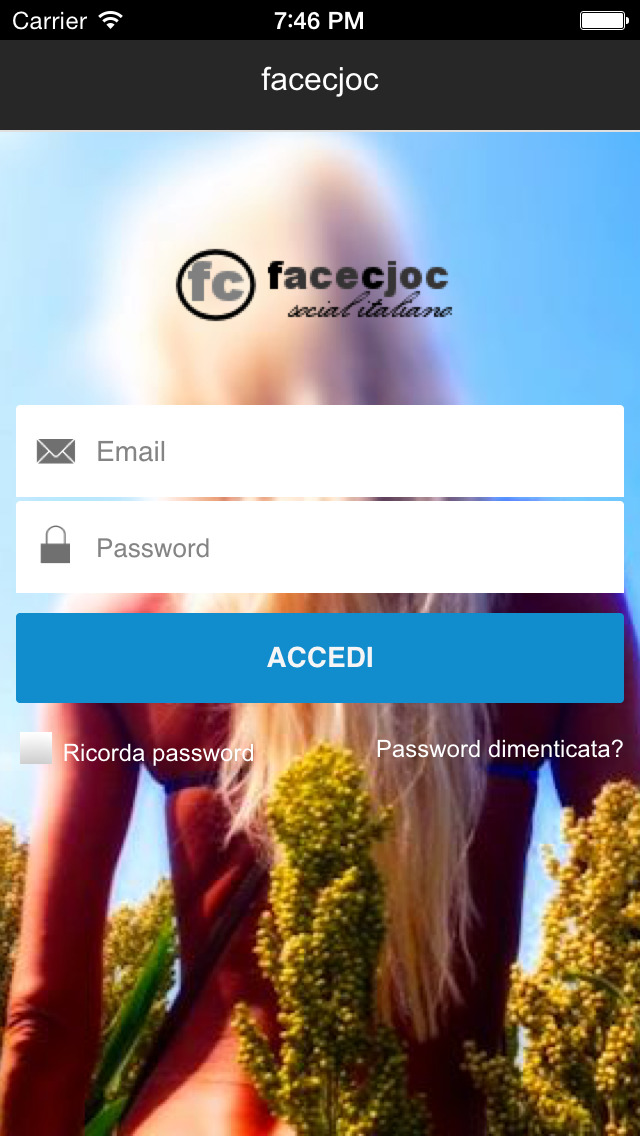 Facecjoc - Social network Italiano dei dialetti screenshot 2