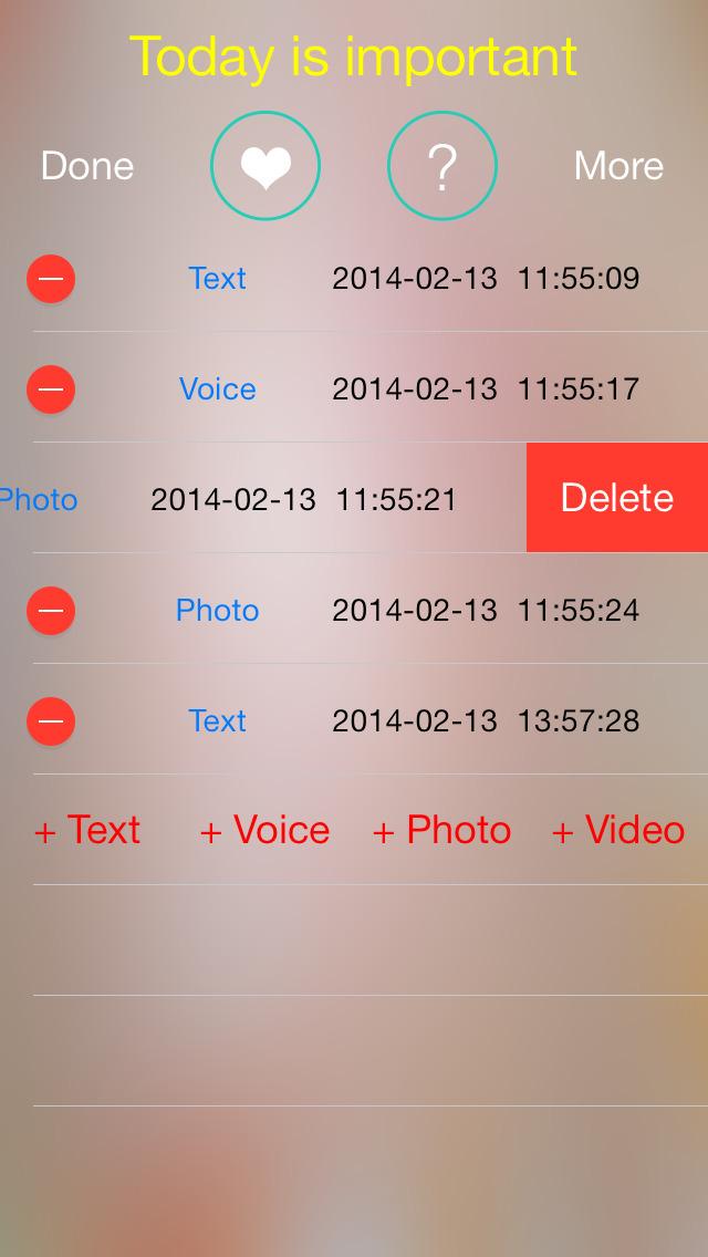 Diary Pro with multimedia screenshot 2