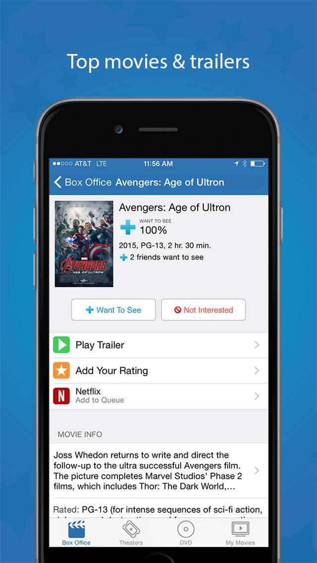 Flixster - Showtimes + Tickets screenshot #2
