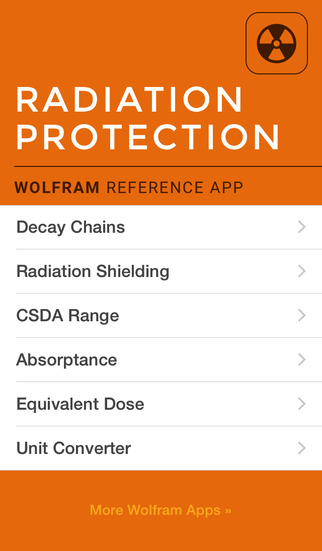 Wolfram Radiation Protection Reference App screenshot 1