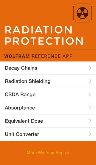 Wolfram Radiation Protection Reference App screenshot 1