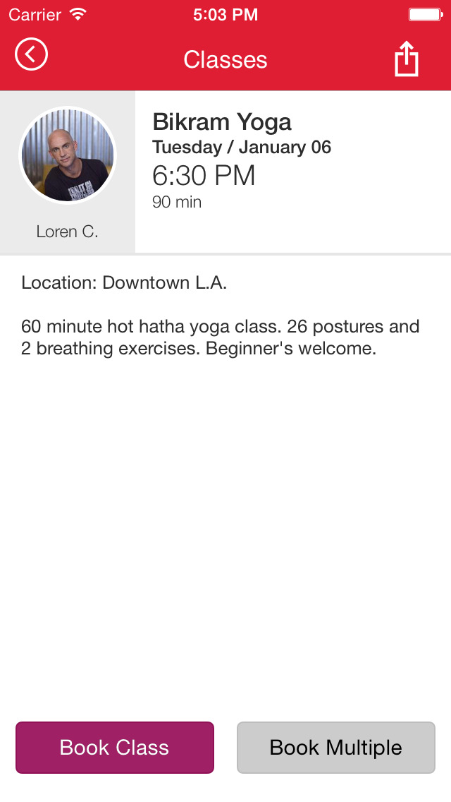Bikram Yoga Downtown LA screenshot #4