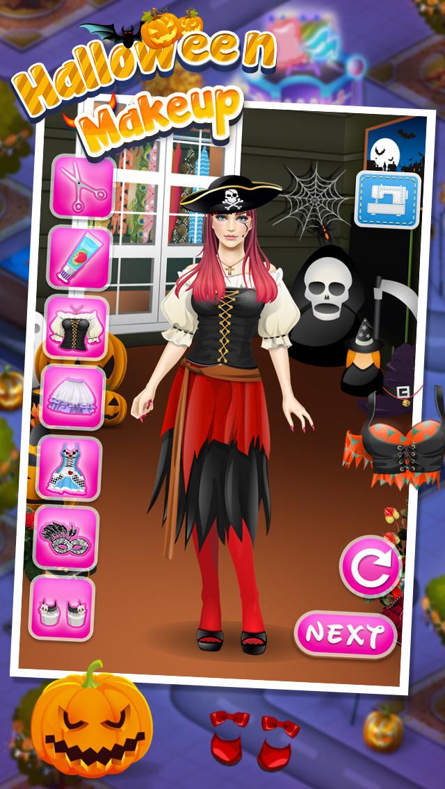 Halloween Makeup SPA - free girls games screenshot 2