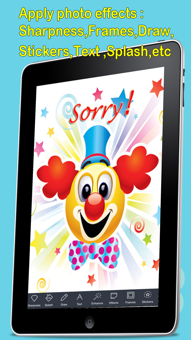 Sorry Cards with photo editor.Send sorry greeting card and custom apology ecards with text and voice messages! screenshot 3