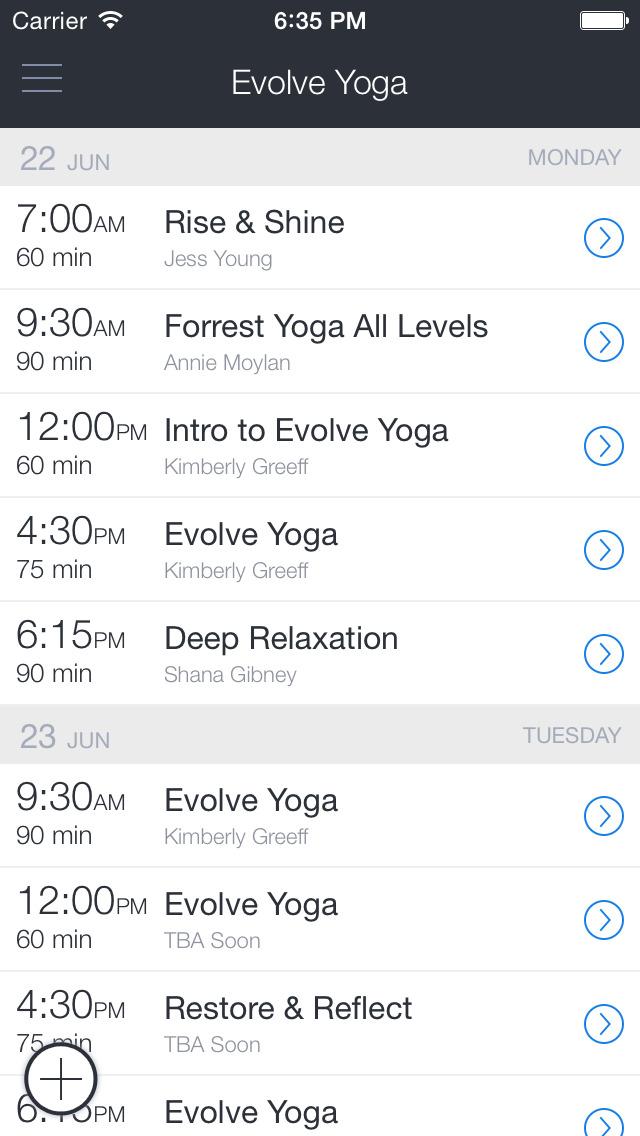 Evolve Yoga screenshot 1