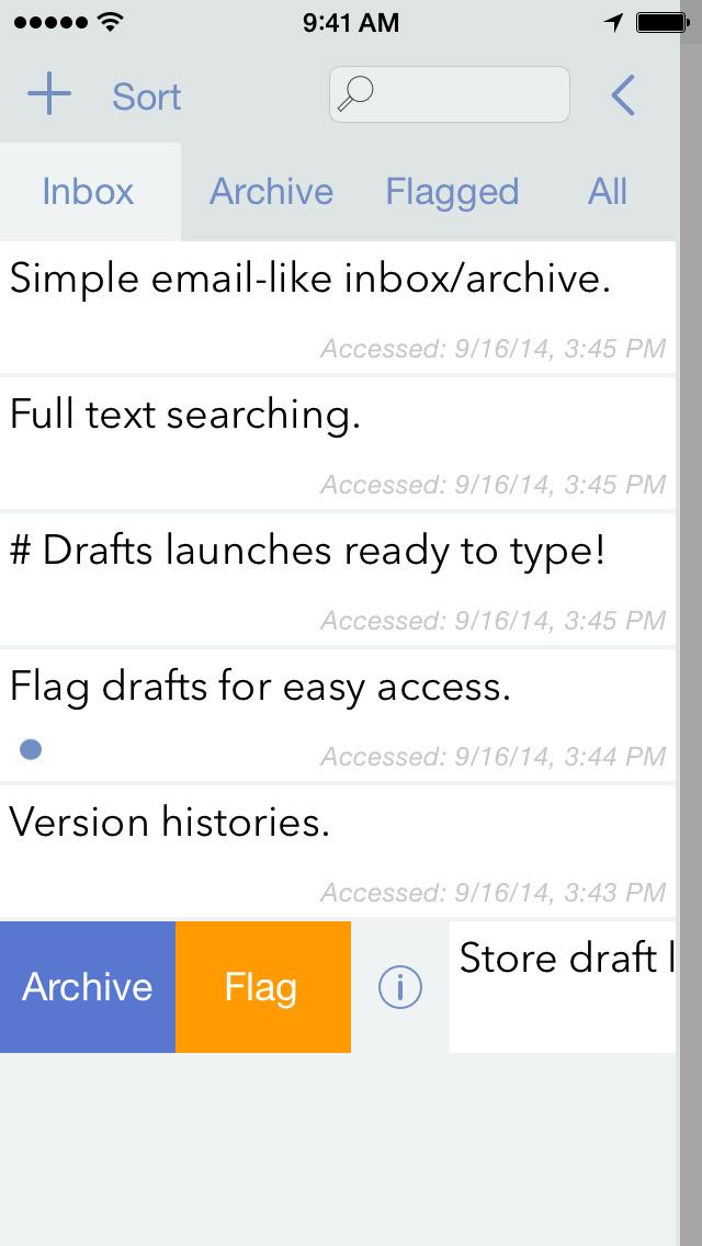 Drafts (Legacy Version) screenshot 2