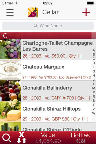 Wine Cellar Database - search and manage your dele - náhled