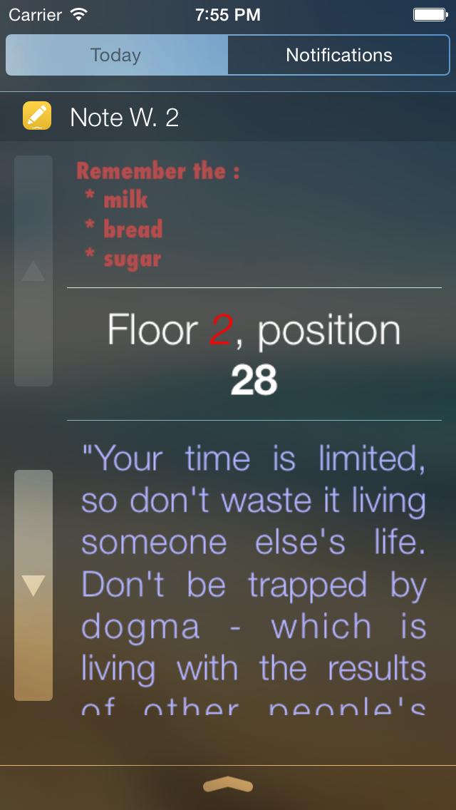 Note Widget screenshot 2