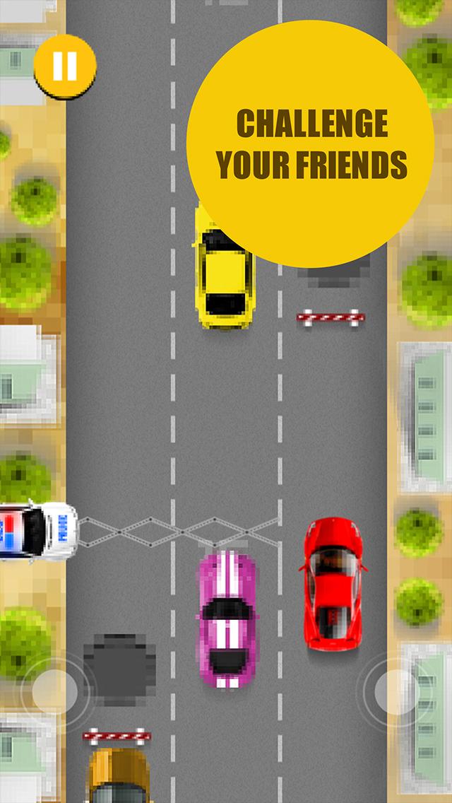 Pixel Traffic - best one tap 8 bit style game screenshot 2