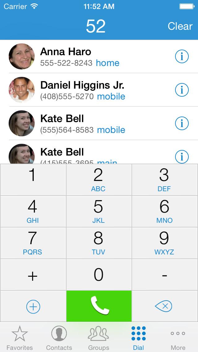 ContactsXL 2016 screenshot #4