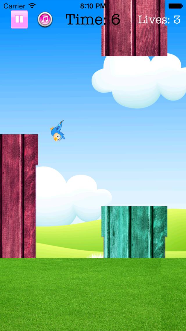 Fly Birdie - One touch branch jump screenshot 3
